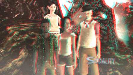 Sodality Season 1 Wallpaper 3D Red-Cyan by BulldozerIvan