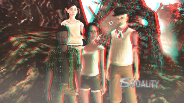Sodality Season 1 Wallpaper 3D Red-Cyan