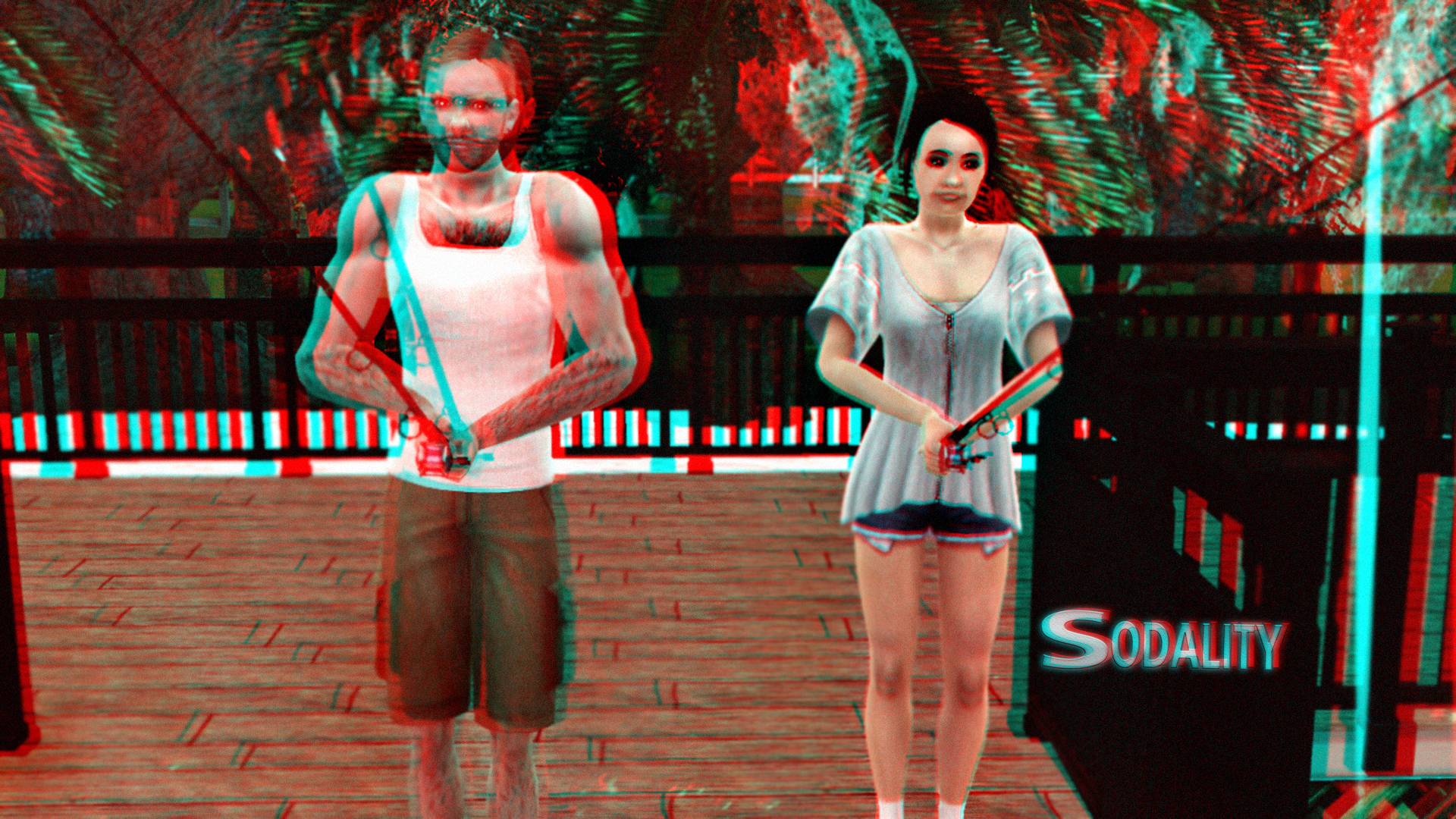 Kyle and Charlotte Gone Fishing 3D Red-Cyan by BulldozerIvan