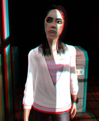 Miranda Kanla 3D Red-Cyan by BulldozerIvan