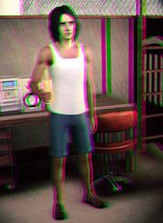 Jack Mercreek 3D Green-Magenta by BulldozerIvan