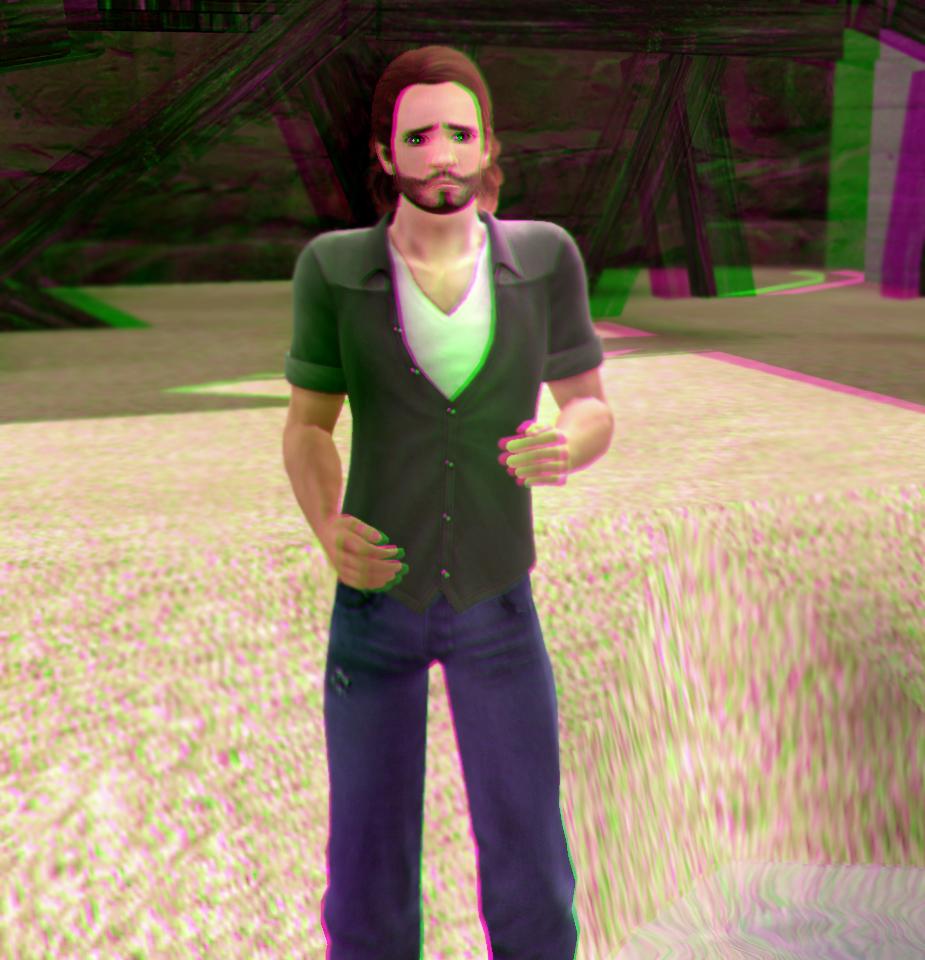 Ron Barrin 3D Green-Magenta