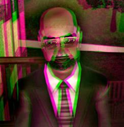 Rev. Tyler Kilmington 3D Green-Magenta by BulldozerIvan