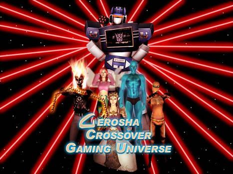 Gerosha Crossover Gaming Universe Ad Card by BulldozerIvan