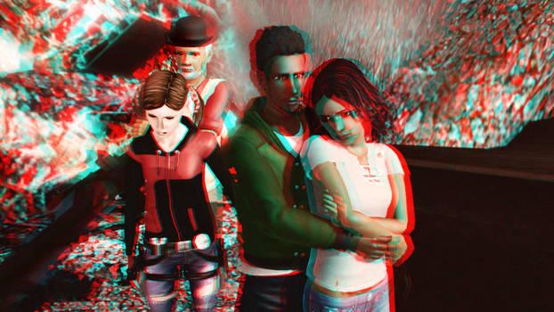 Sodality Season 1 Main Characters 3D Red-Cyan