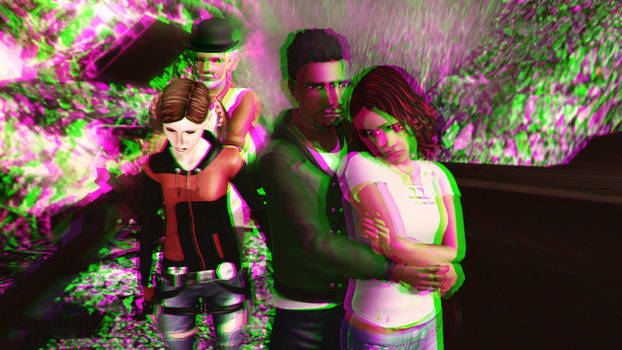 Sodality Season 1 Main Characters 3D Green-Magenta