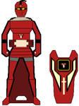 Gokaiger Red Serpent Cortascian Knight Key