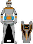 Gokaiger Silver Ferret Cortascian Knight Key