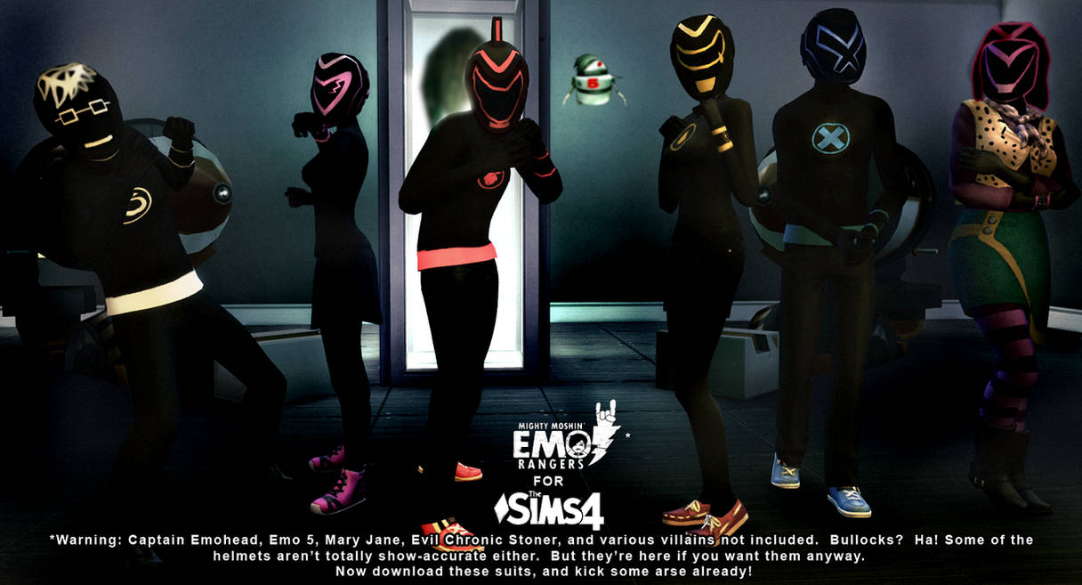 Emo Rangers for Sims 4 download by BulldozerIvan
