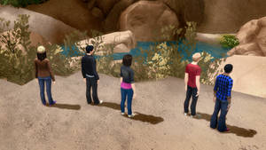 Sims 4 Power Rangers Cliffside Wallpaper 720p by BulldozerIvan