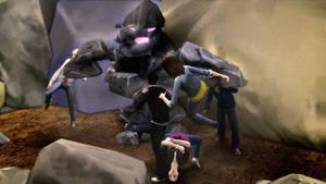 Sims 4 Power Rangers Pit Fight Wallpaper 720p