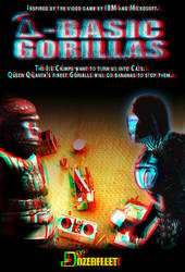 Q-Basic-Gorillas poster 3D red cyan redux by BulldozerIvan