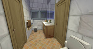 Shared bathroom, angle 1