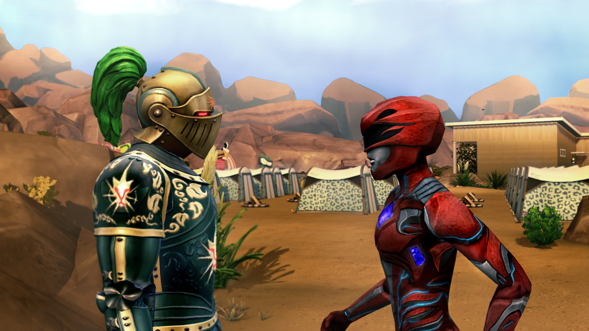 Volkonir Meets the Power Rangers Wallpaper