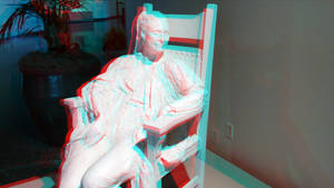 Old Statue Lady 3D