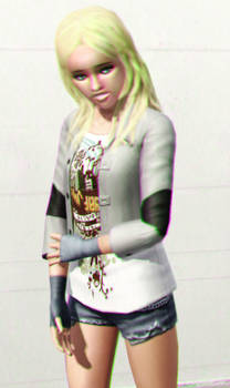 Celia Winehart 3D Green-Magenta (redux) by BulldozerIvan