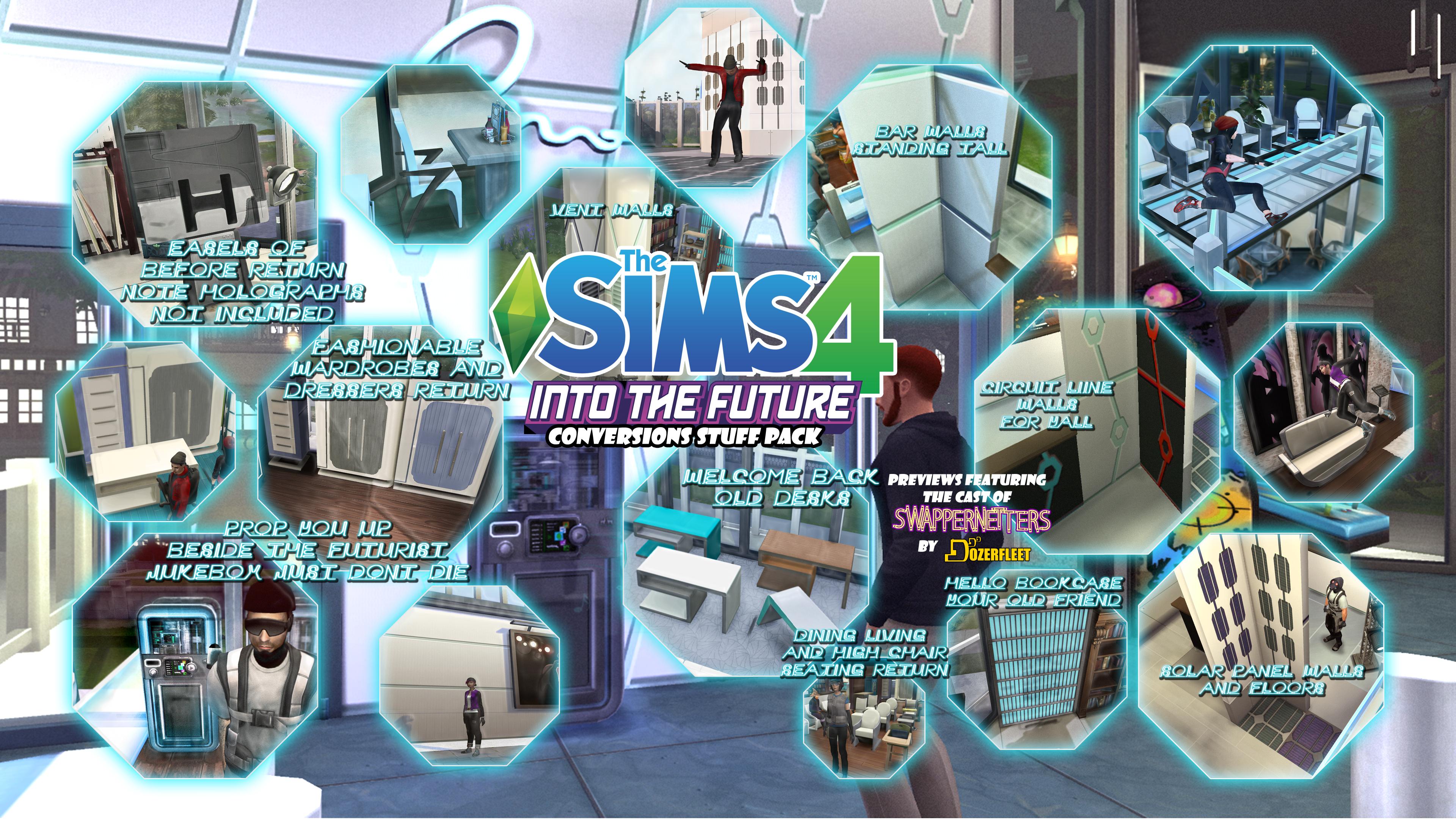 The Sims 4 Into the Future Conversions Stuff Pack by BulldozerIvan