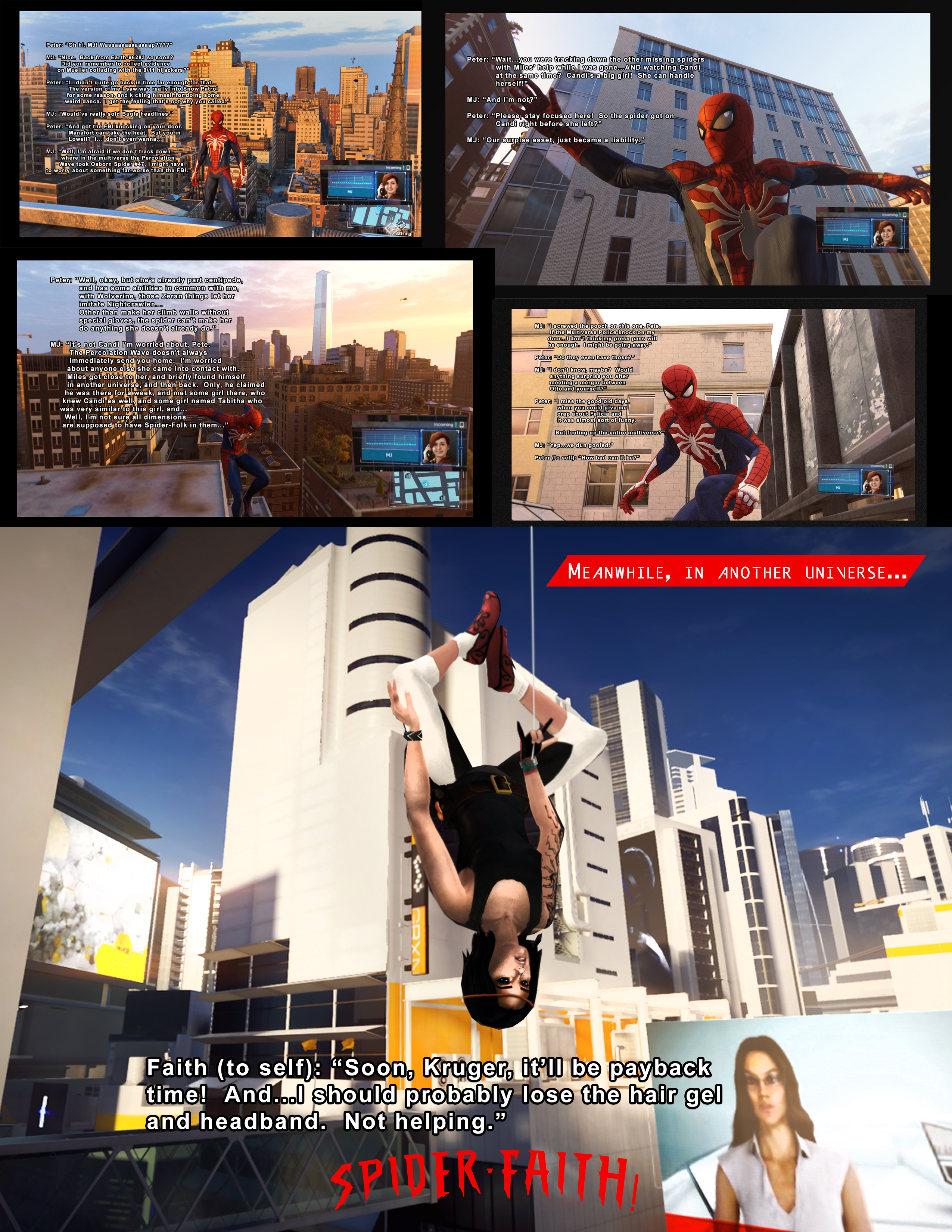 Percolation Warriors: Spider-Faith