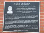 Stan Ensor Plaque