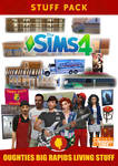 The Sims 4: Oughties Big Rapids Living Stuff