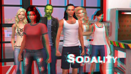 Sodality Adaptation Wallpaper 3D Red-Cyan