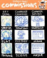 September 2020 Commissions Sheet