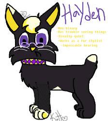 Hayden (New OC) by eyelessZomp1re