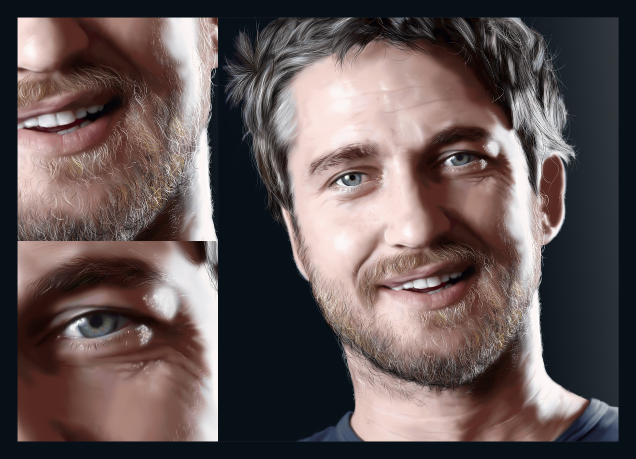 Gerard Butler Digital Painting by thesoulcanwait