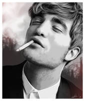 Robert Pattinson Digi Painting by thesoulcanwait