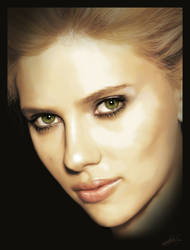 Scarlett Digital Painting by thesoulcanwait
