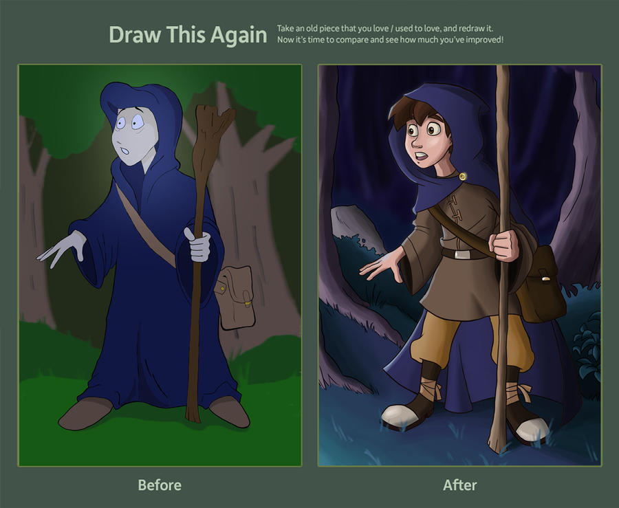 Draw This Again - Little Wizard by Calick