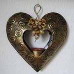 metallic heart - stock