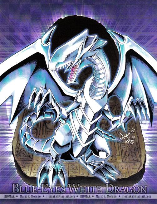 Blue-Eyes White Dragon by Riomak