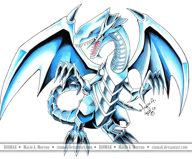 blue dragon eyes wallpaper white. Blue-Eyes White Dragon 4 by ~Riomak on deviantART