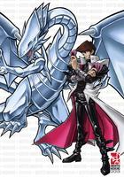 Kaiba and Blue-Eyes White Dragon by Riomak