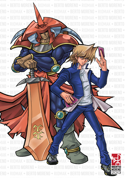 Joey and Flame Swordsman by Riomak