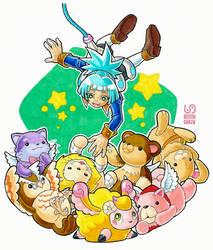 Sora and Fluffals by Riomak