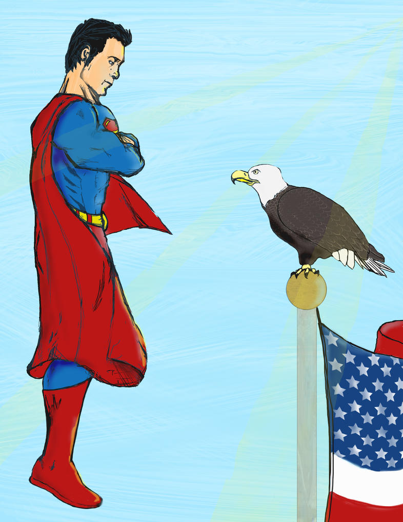 Superman and Eagle by IAmAir