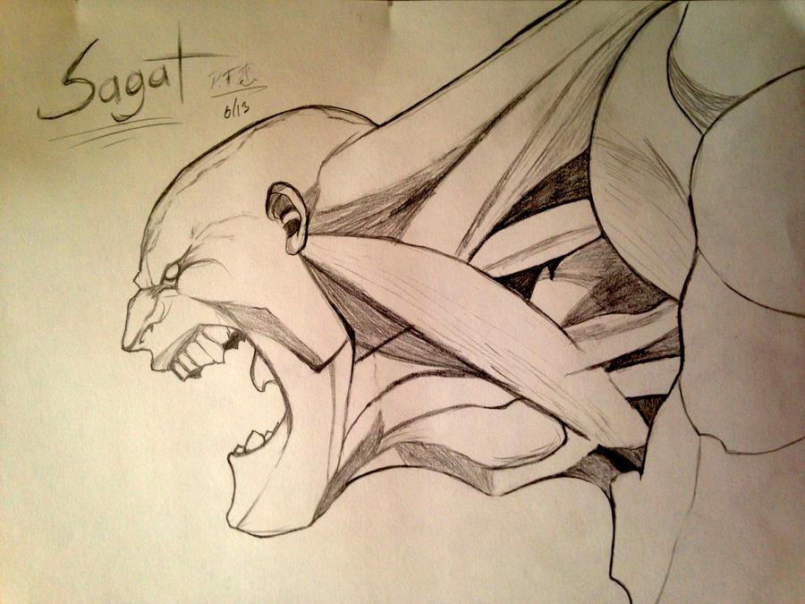 Sagat Neck Muscles by IAmAir