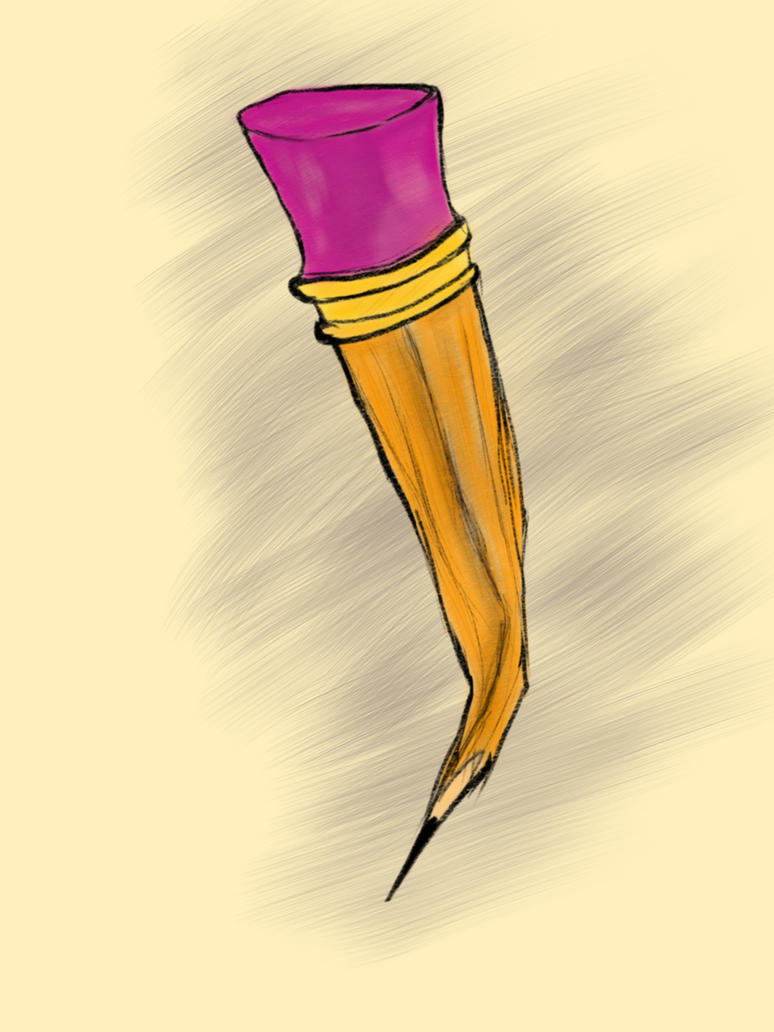 Contorted Pencil by IAmAir