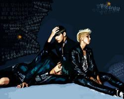 Jungkook, Taehyung, Namjoon (BTS) by miobitat