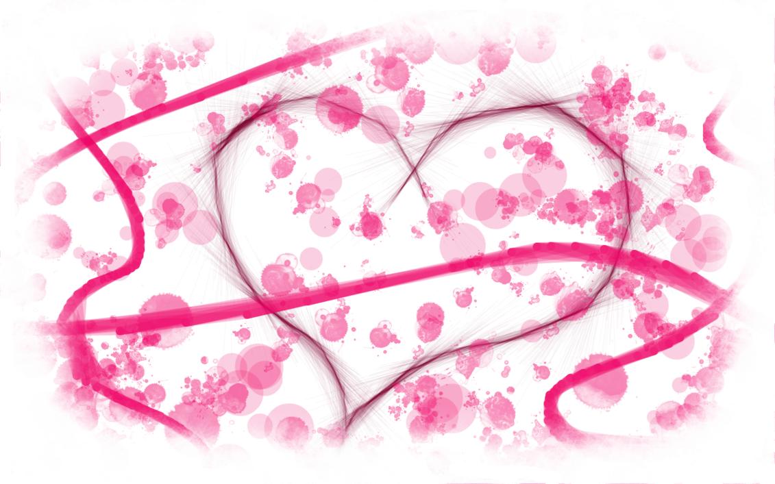 Valentine Heart with white border by MelMuff