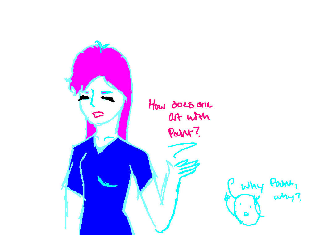 Drawing on Paint is Hard by AbiThePerson