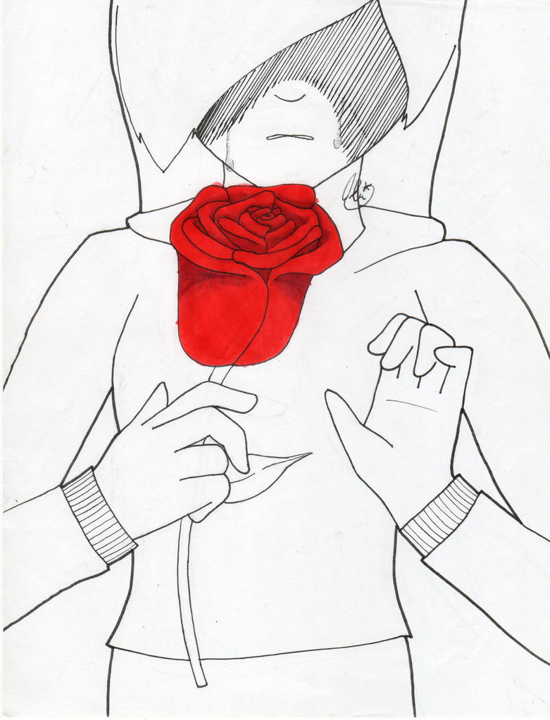 Inktober #2 ''Red Roses'' by AbiThePerson
