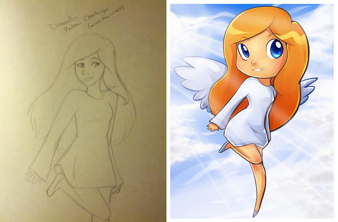DragoArt Redraw Challenge by AbiThePerson