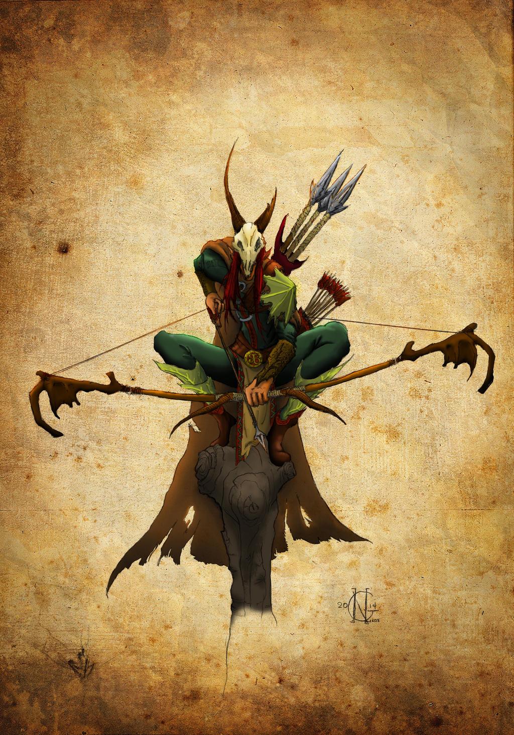 Elf hunter by Erkahoth