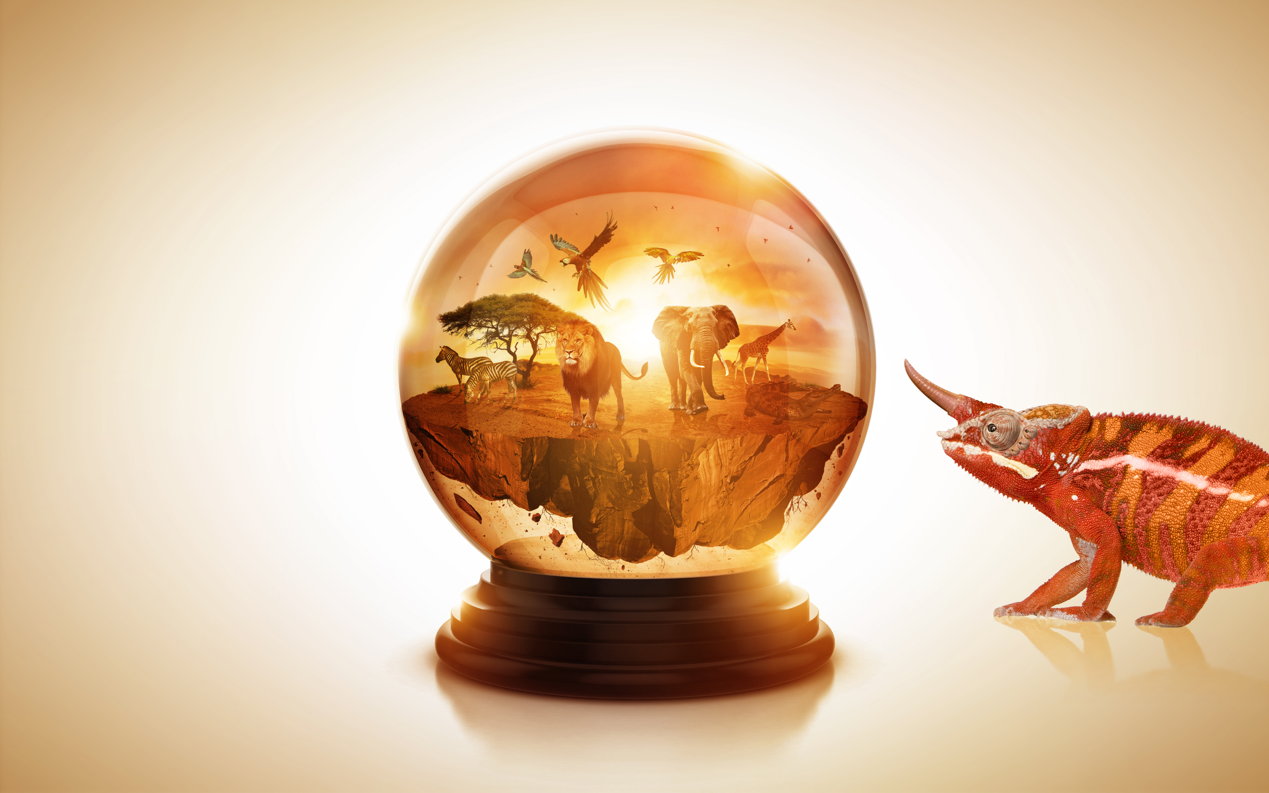 Small World 2 / Snow Globe by LAMBDA256