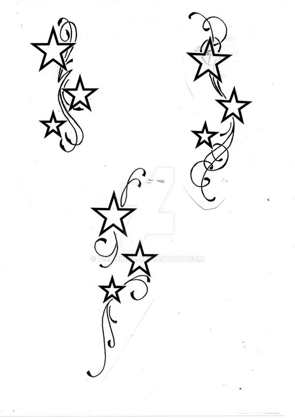 Swirl Shoulder Design Tattoos