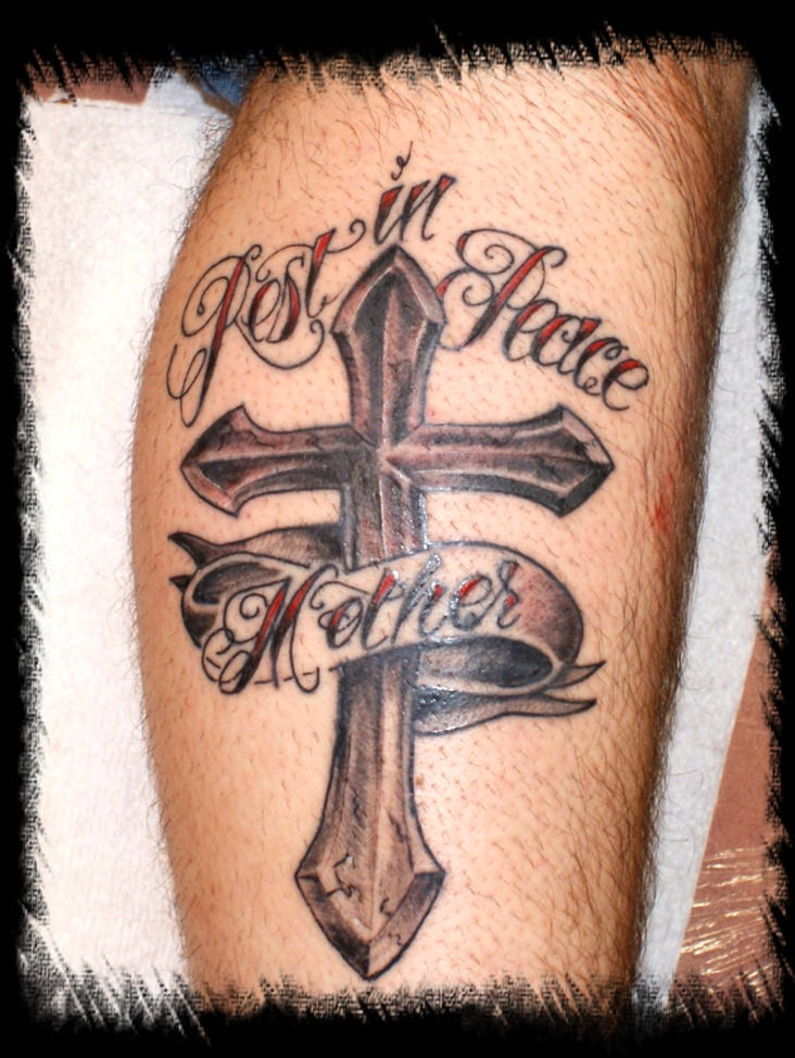 Memorial Cross Tattoos. cross tattoos for men memorial