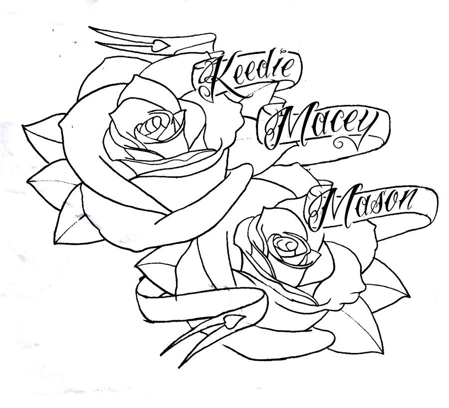 Tribal Heart With Banner roses n banner ...